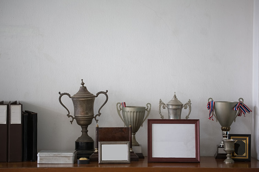 Old silver trophies,