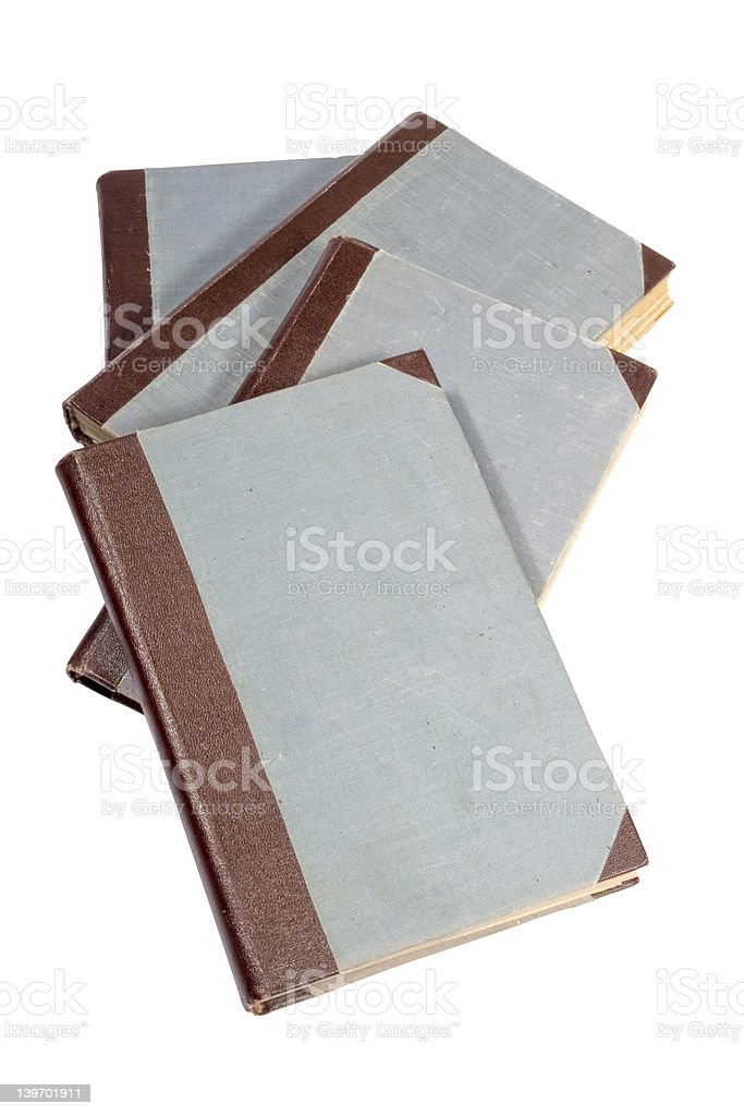old  similar isolated books royalty-free stock photo