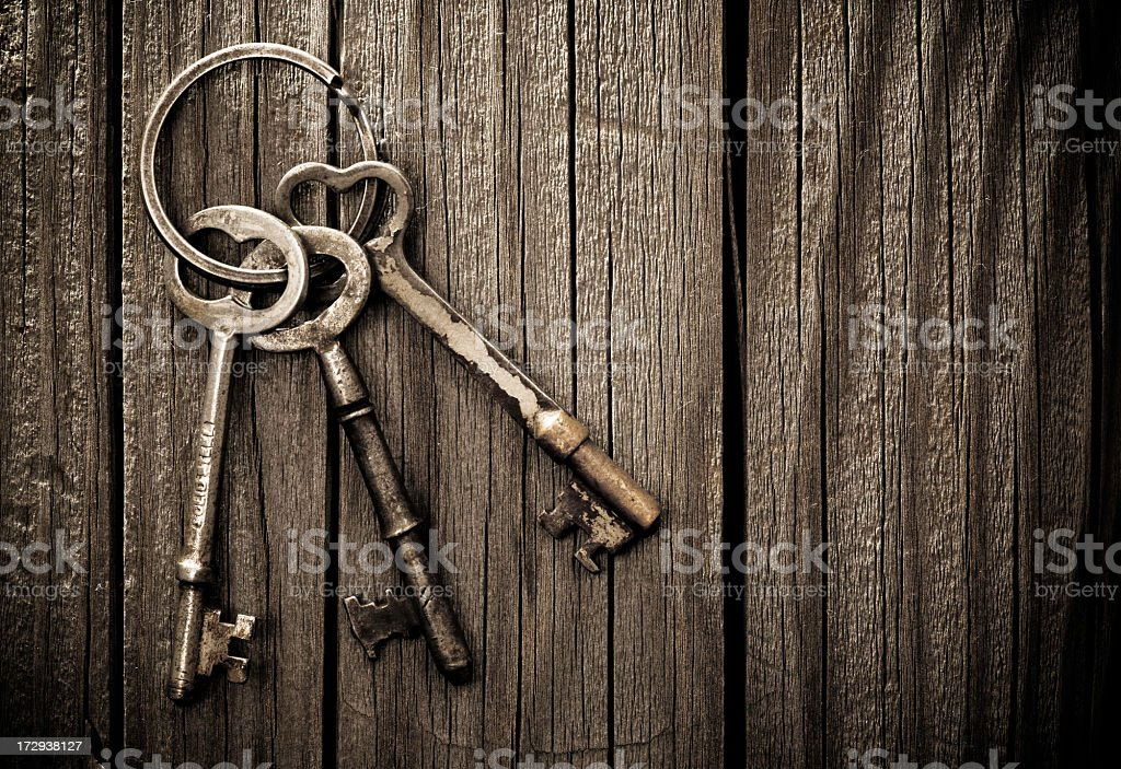 Old Skeleton Keys stock photo