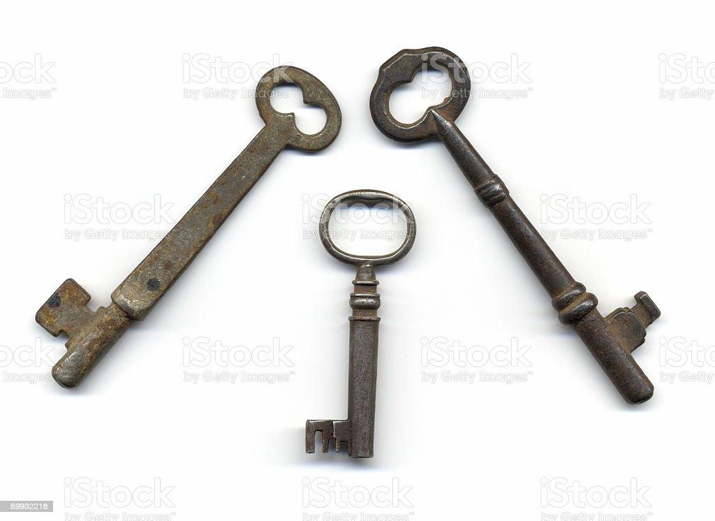 Old Skeleton Keys royalty-free stock photo