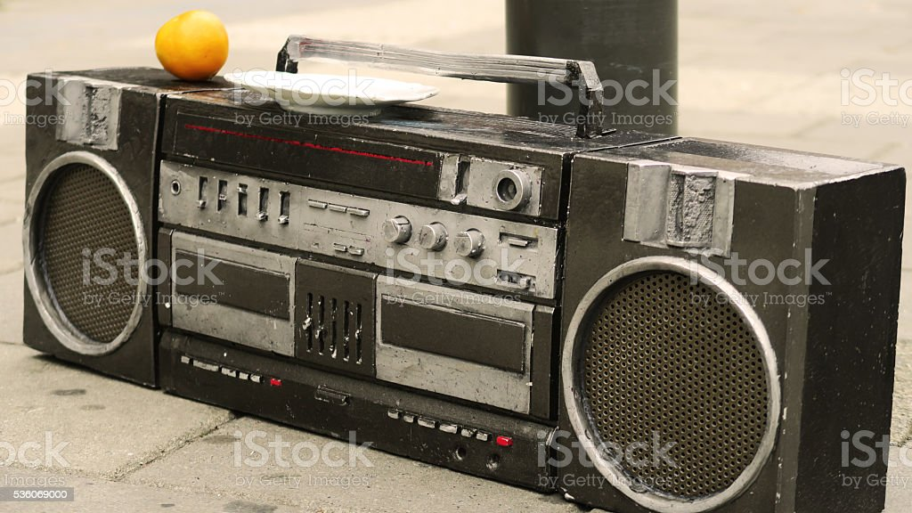 old skool ghetto blaster stock photo