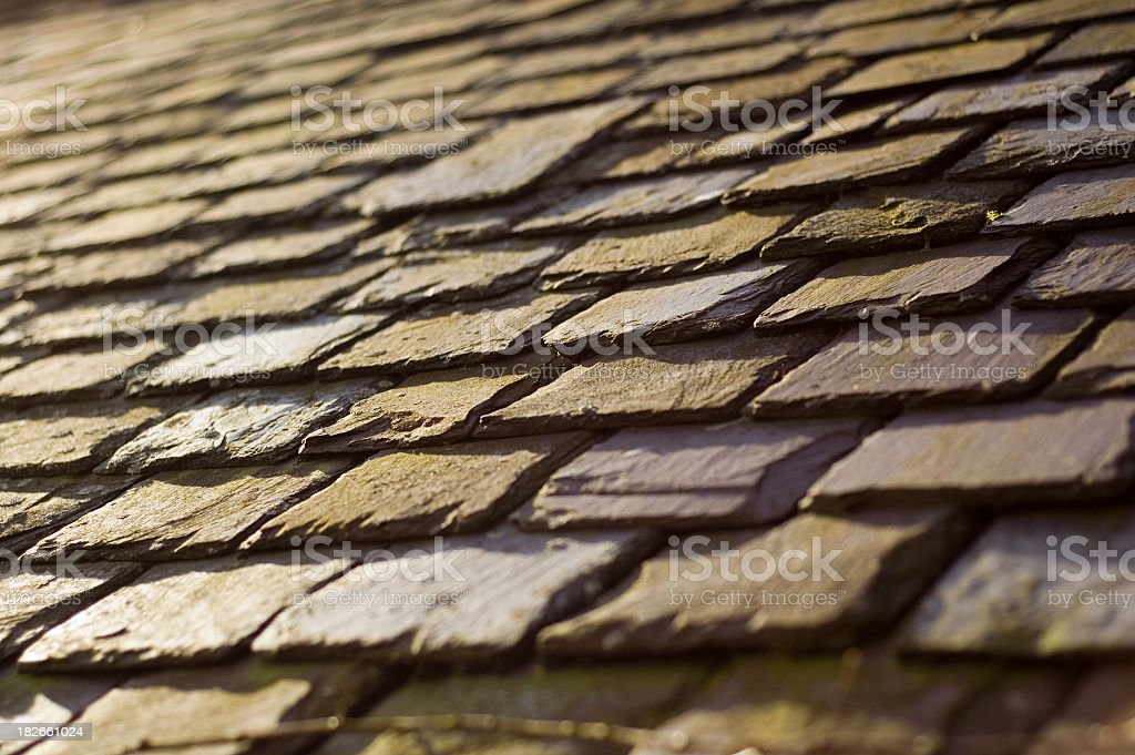 Old Slate Roof royalty-free stock photo