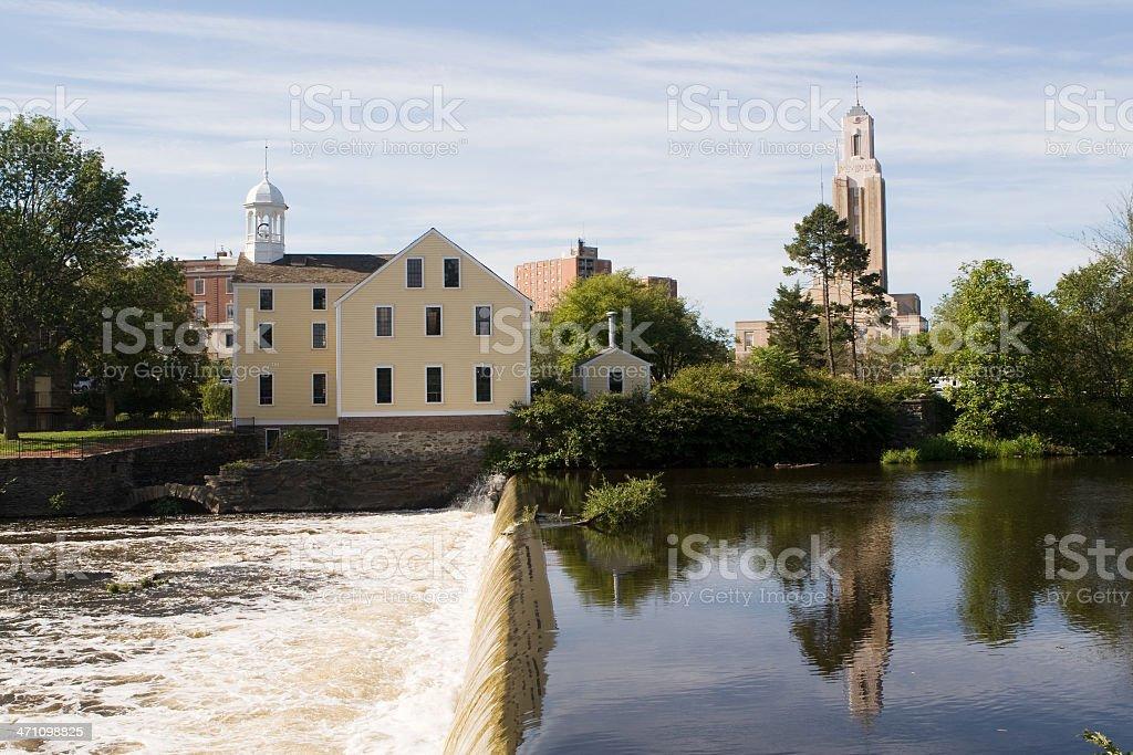 Old Slater Mill, Pawtucket, Rhode Island royalty-free stock photo