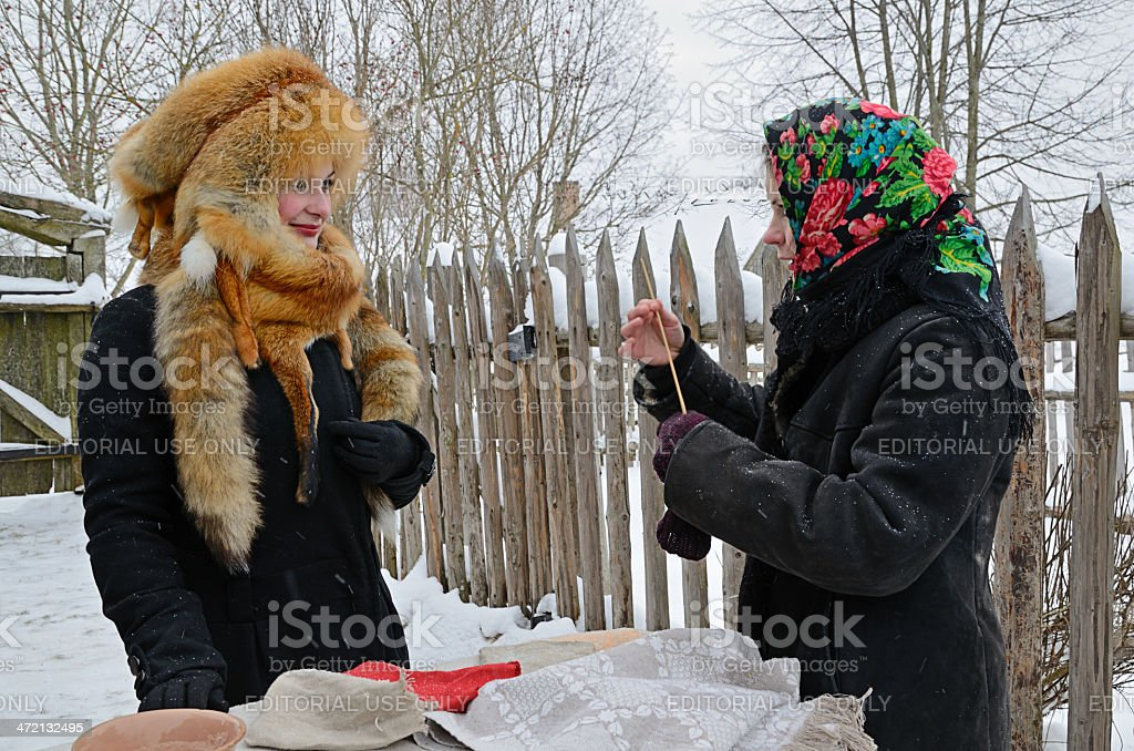 Old Slavonic divinations royalty-free stock photo