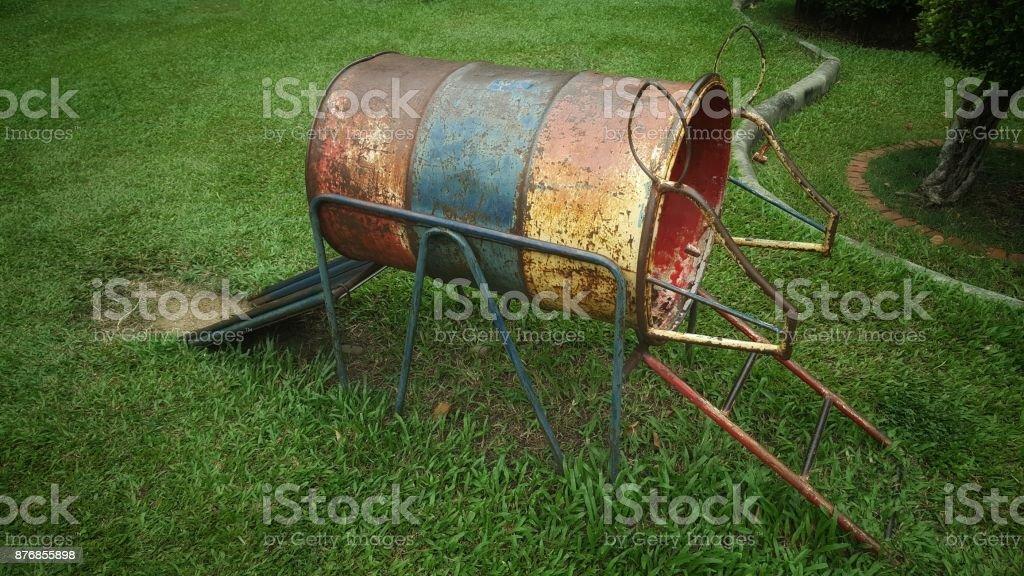 Old slide rusty stock photo