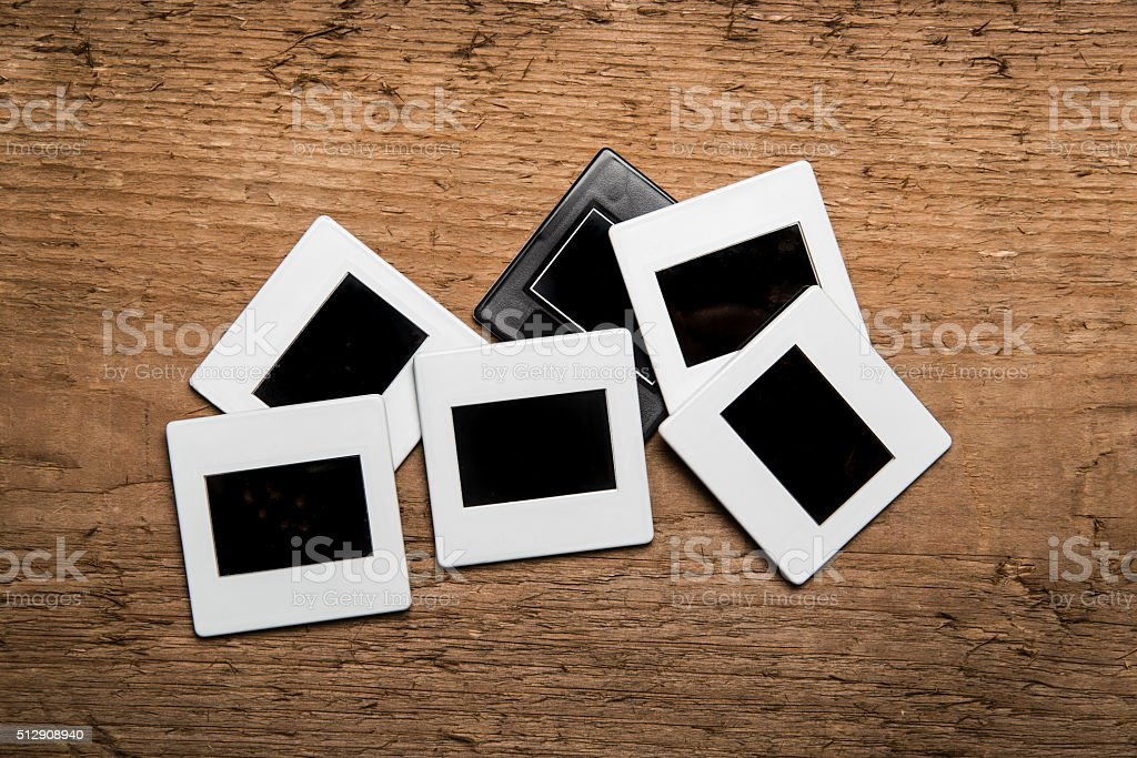 old slides on wood background stock photo more pictures of