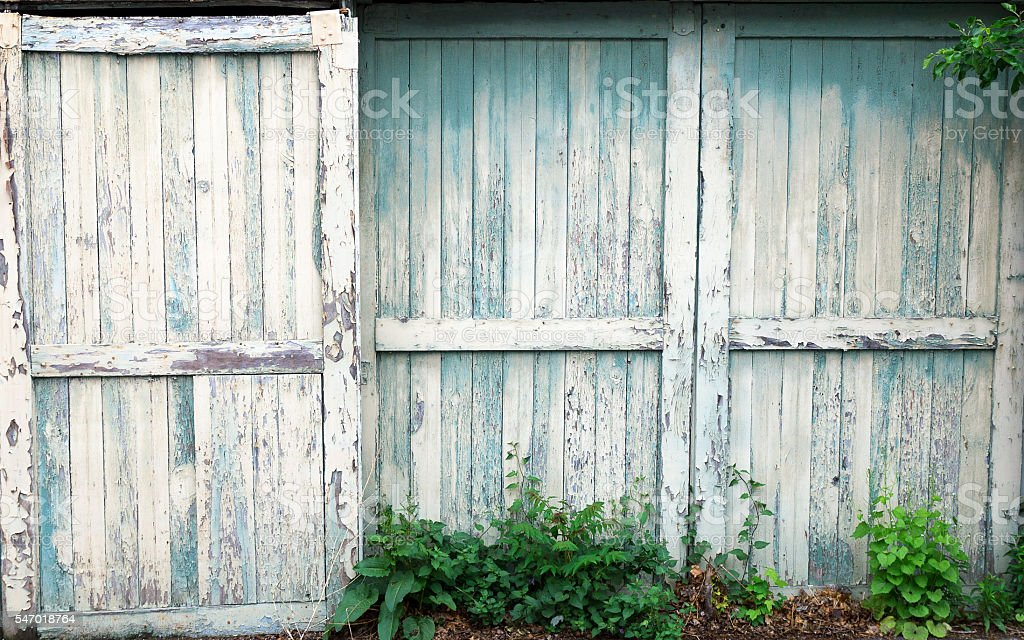 Old Sliding Barn Doors stock photo
