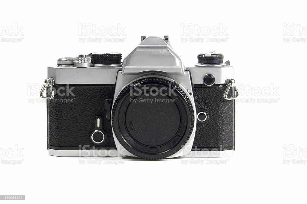 Old SLR camera body royalty-free stock photo