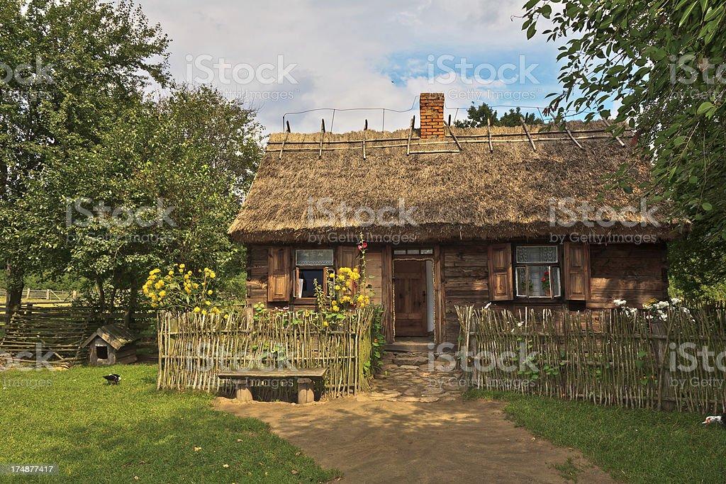 Old Small Farmhouse Mazovia Poland Royalty Free Stock Photo