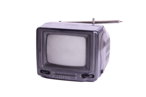 Old small TV Old small TV portable television stock pictures, royalty-free photos & images