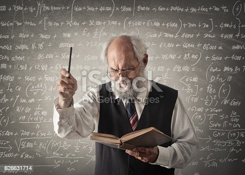 istock Old smart math professor 626631714