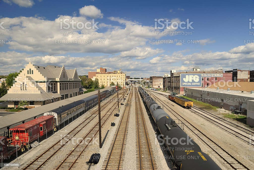 Old Smoky Railway Museum in Knoxville, Tennessee, USA. royalty-free stock photo