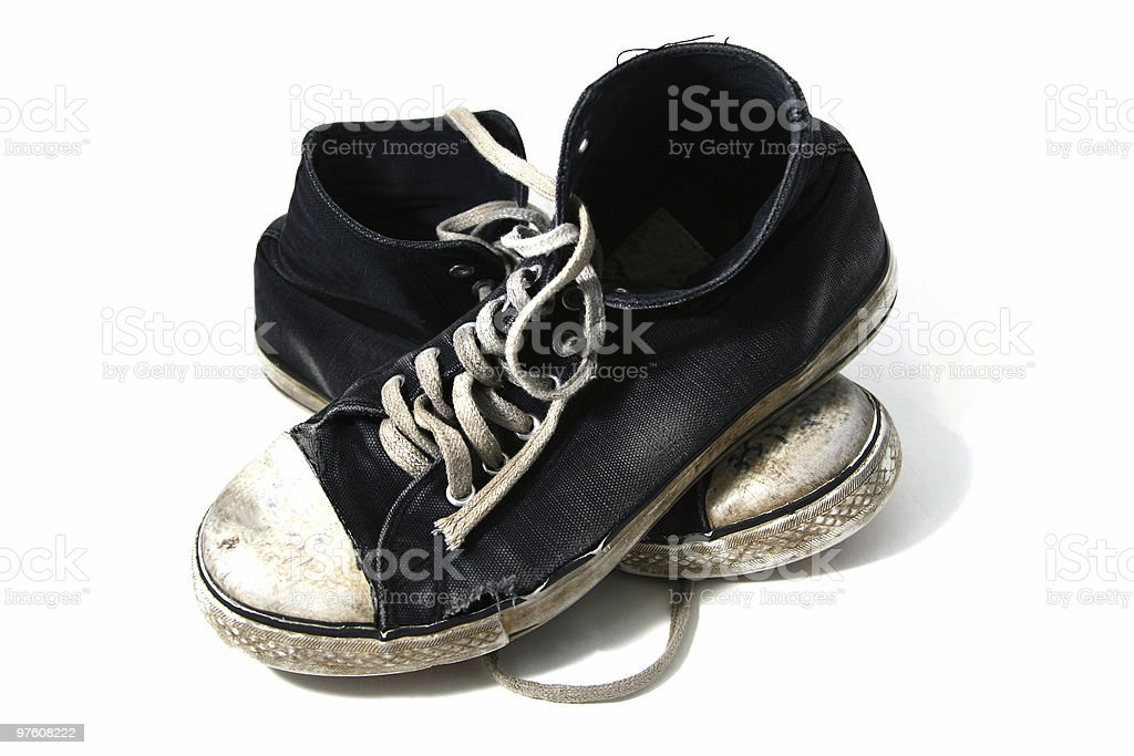 Old Sneakers royalty-free stock photo