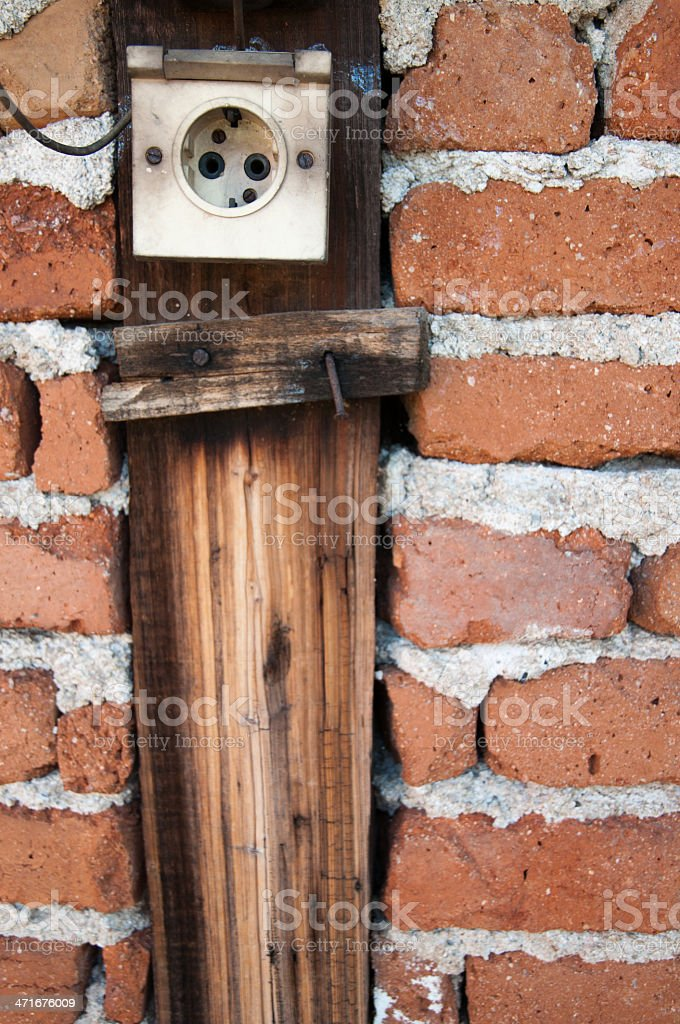 Old socket royalty-free stock photo