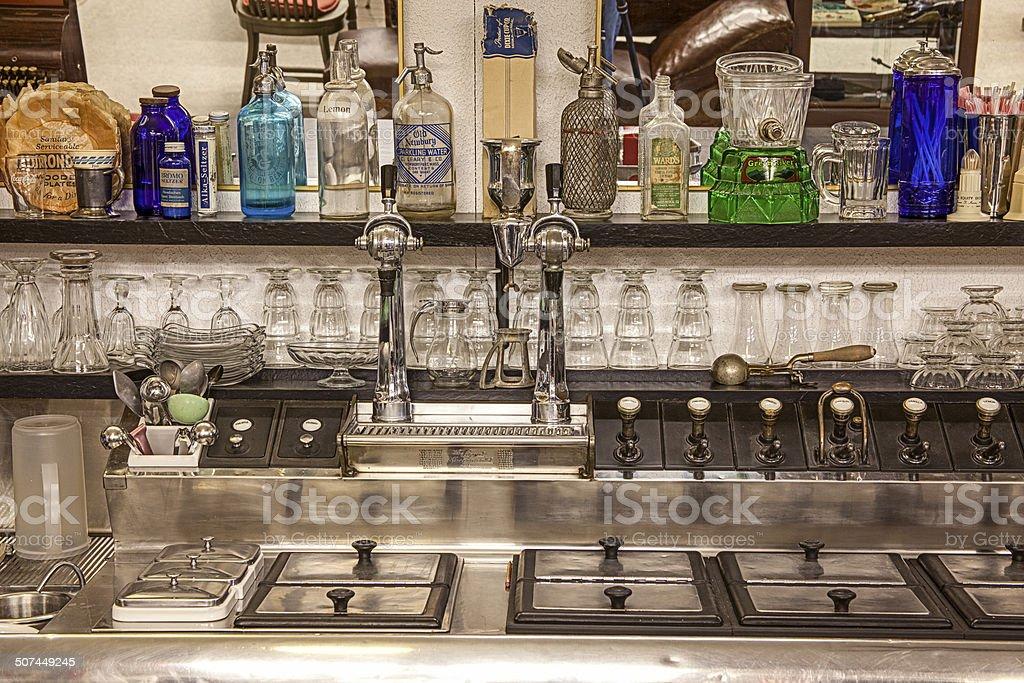 Old Soda Fountain Close-up stock photo