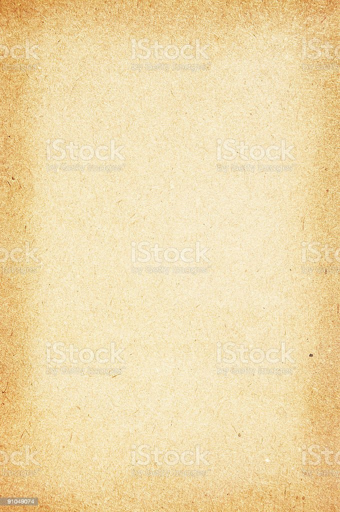 Old soft paper with dark borders royalty-free stock photo