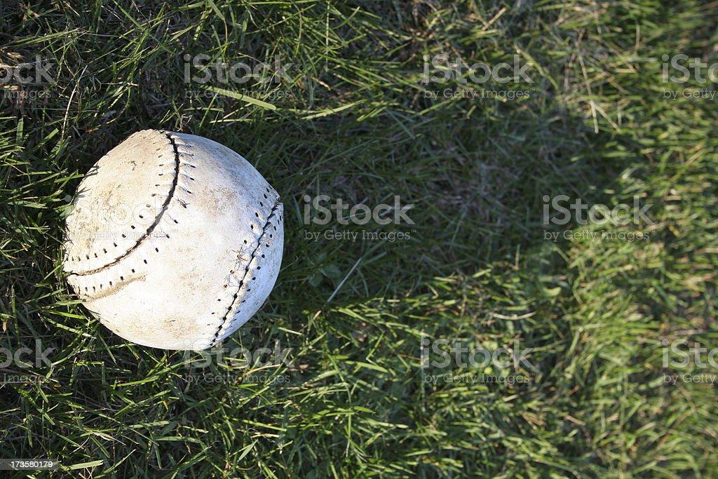 Old Softball royalty-free stock photo