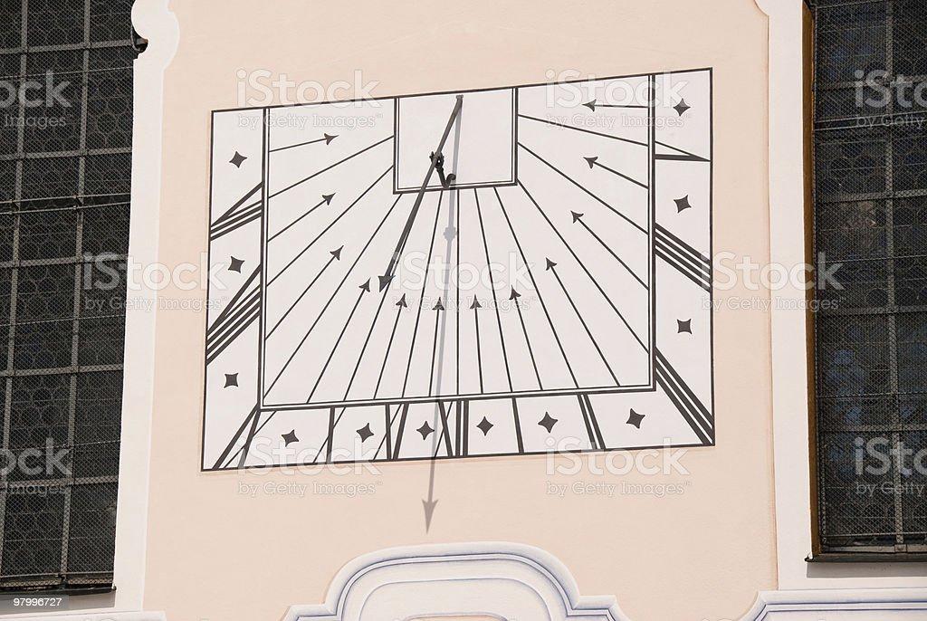 Old Solar Clock royalty-free stock photo