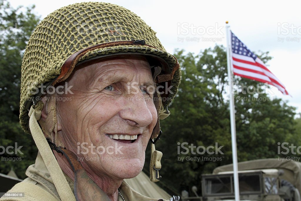 Old Soldier. stock photo