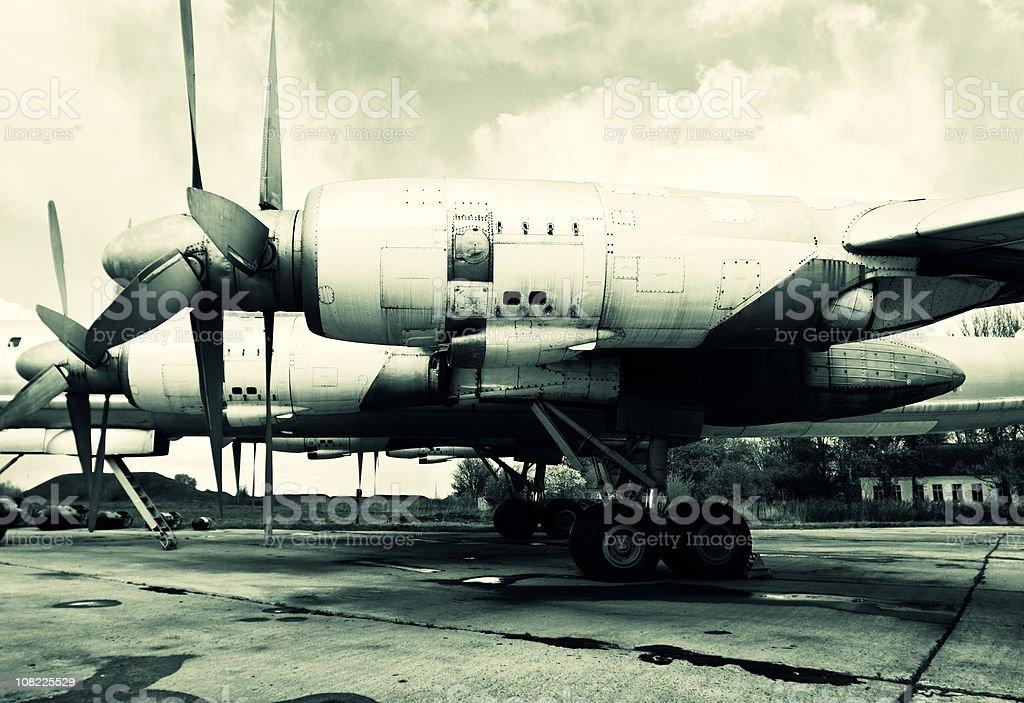 Old Soviet aircraft stock photo