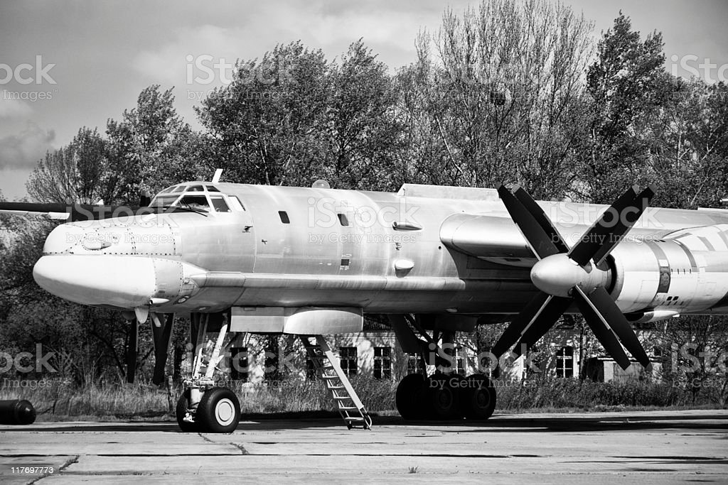 Old Soviet aircraft royalty-free stock photo