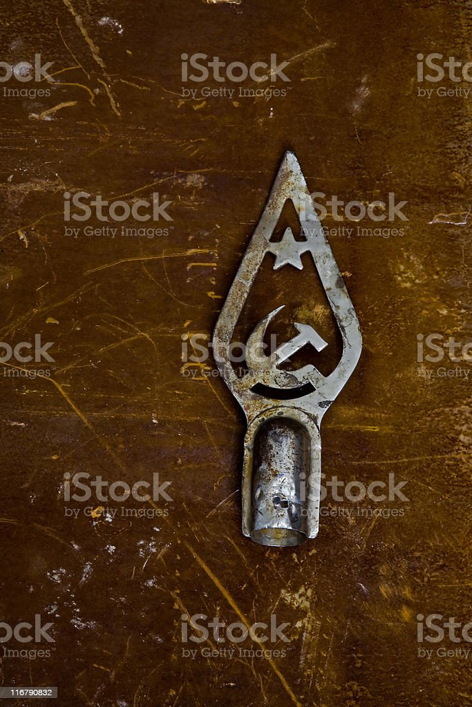 Old Soviet Crest royalty-free stock photo