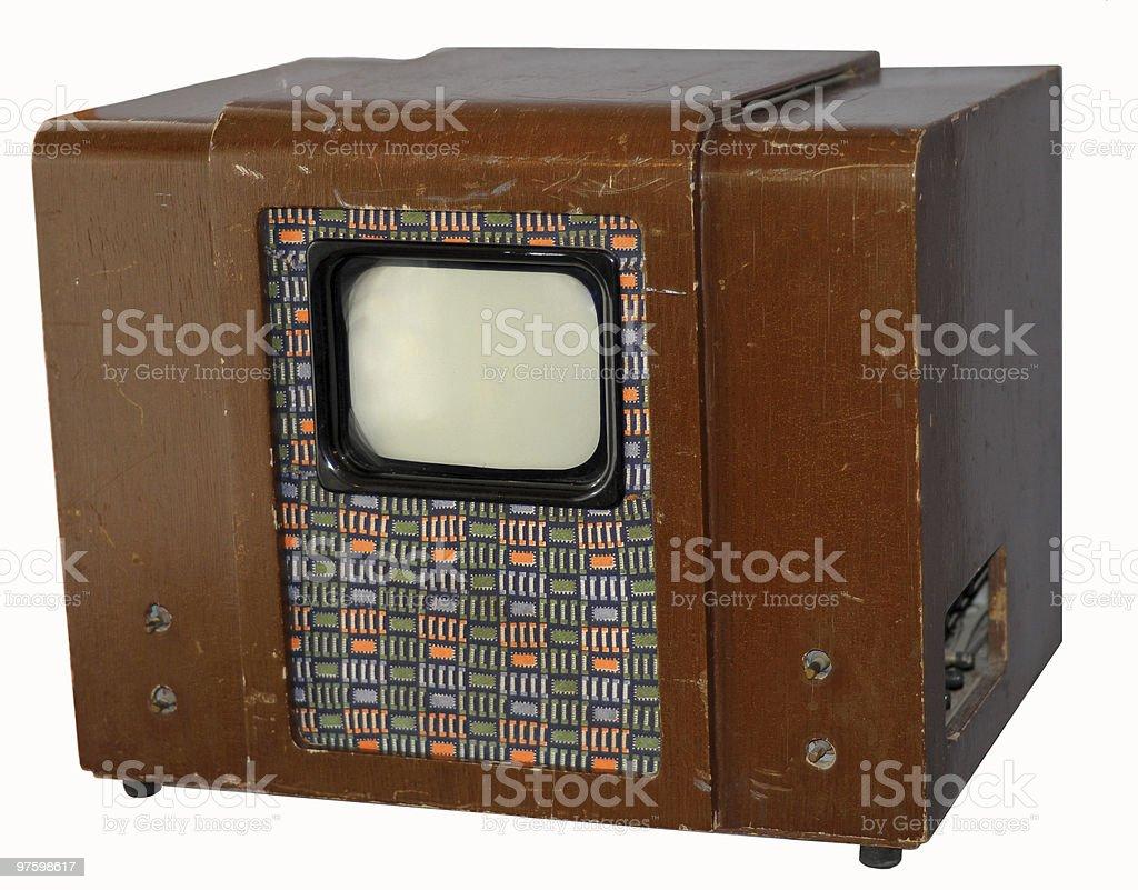 Old Soviet TV stock photo