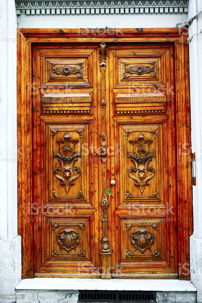 Old Spanish door royalty-free stock photo