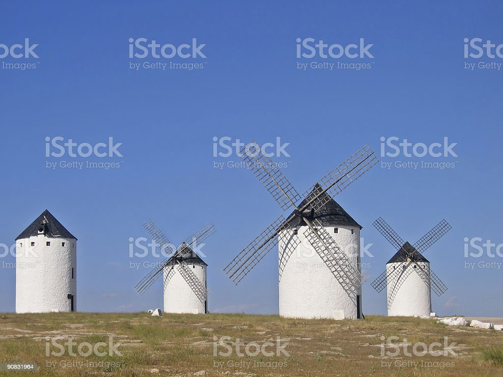 Old Spanish windmill royalty-free stock photo