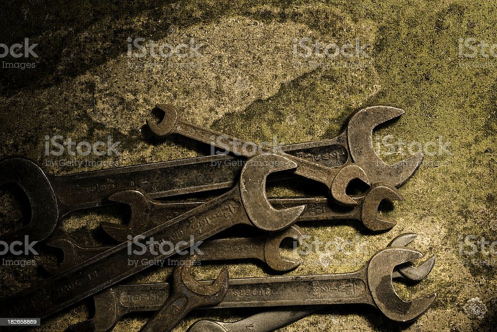 Old Spanners royalty-free stock photo
