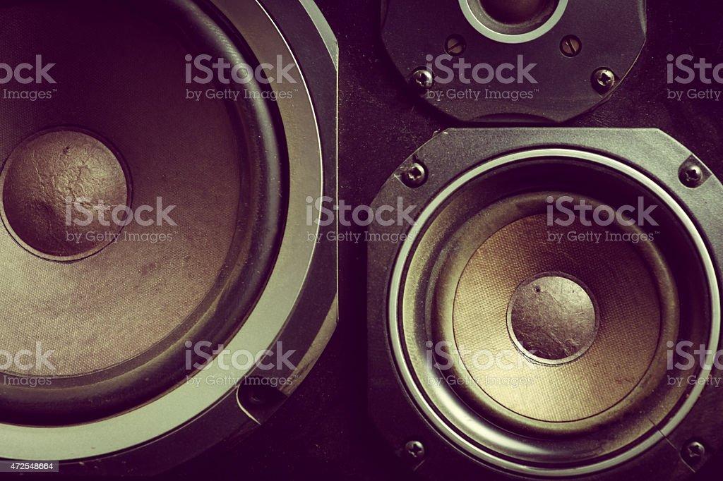 Old de oradores - foto de stock