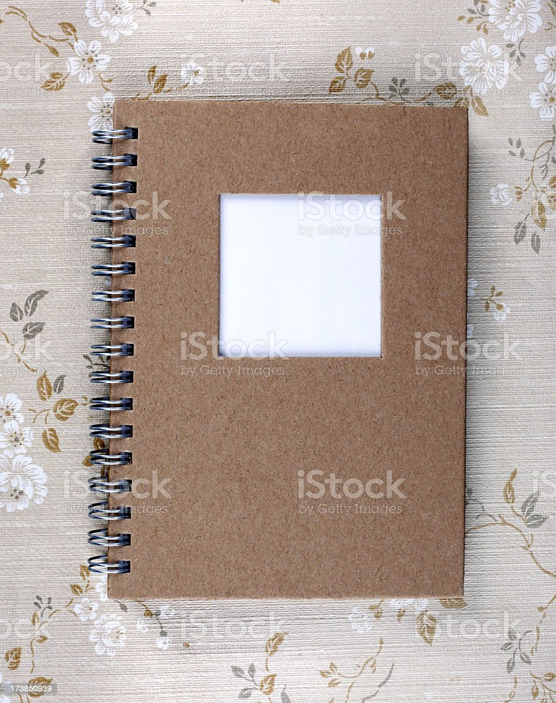 Old Spiral Notebook stock photo