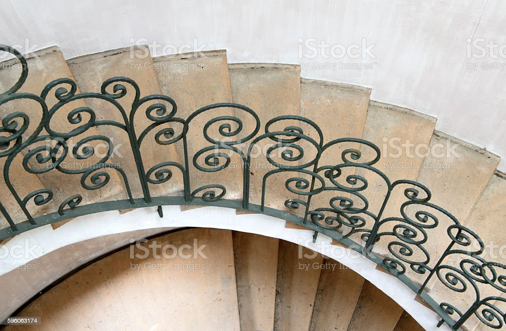 old spiral stairway case royalty-free stock photo