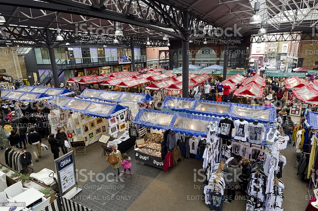Old Spitalfields Market, East End of London stock photo