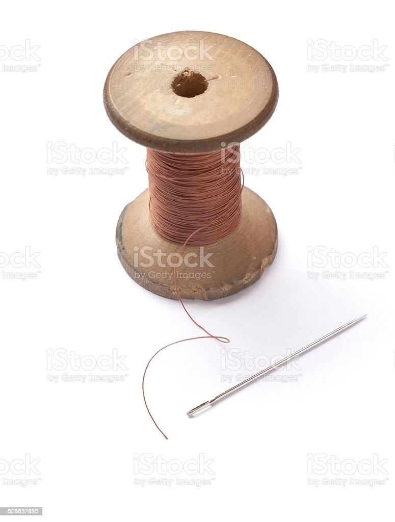 old Bobina e needle - foto de acervo