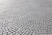 Old square stone paving
