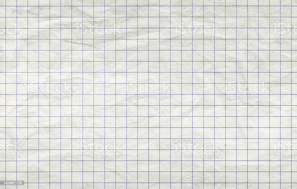 Old squared paper sheet, seamless background texture stock photo