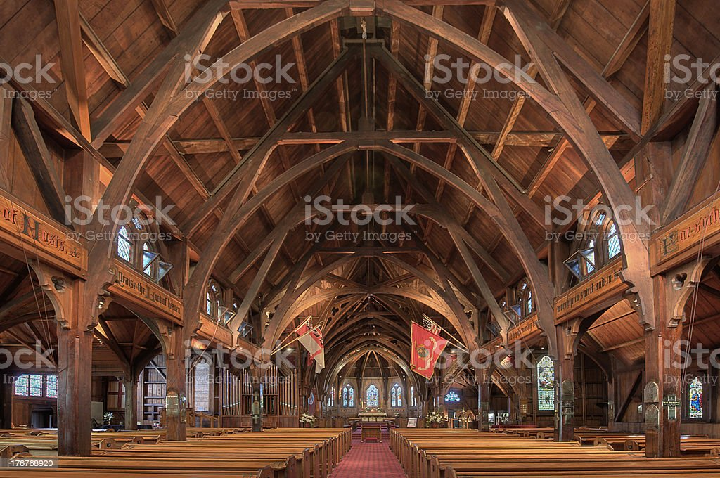 Old St Pauls Cathedral, Wellington, N.Z. stock photo