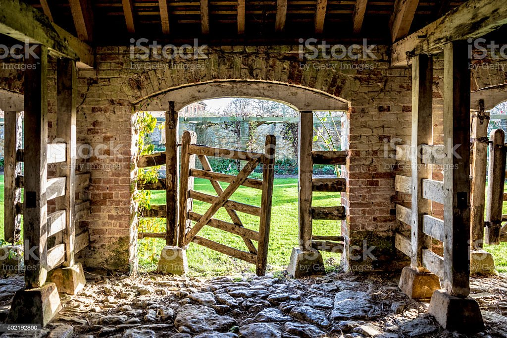 Old Stable/Barn Gate stock photo