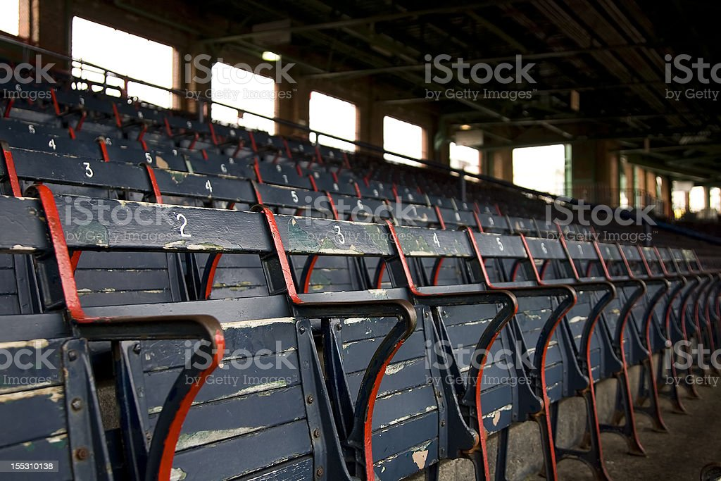 Old Stadium Seats stock photo