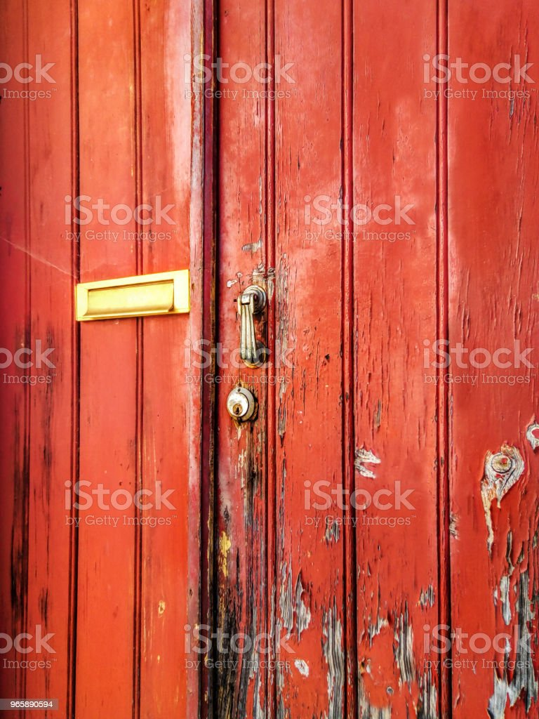 Old Stained Door Detail - Royalty-free Abandoned Stock Photo