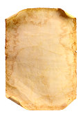 Old stained paper on a white background