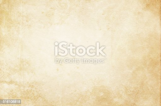 istock Old stained paper texture. 516108818
