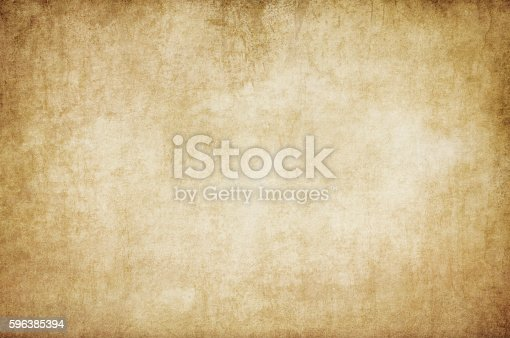 istock Old stained paper texture. 596385394