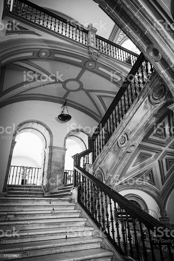 Old Staircase in Seville, Spain royalty-free stock photo