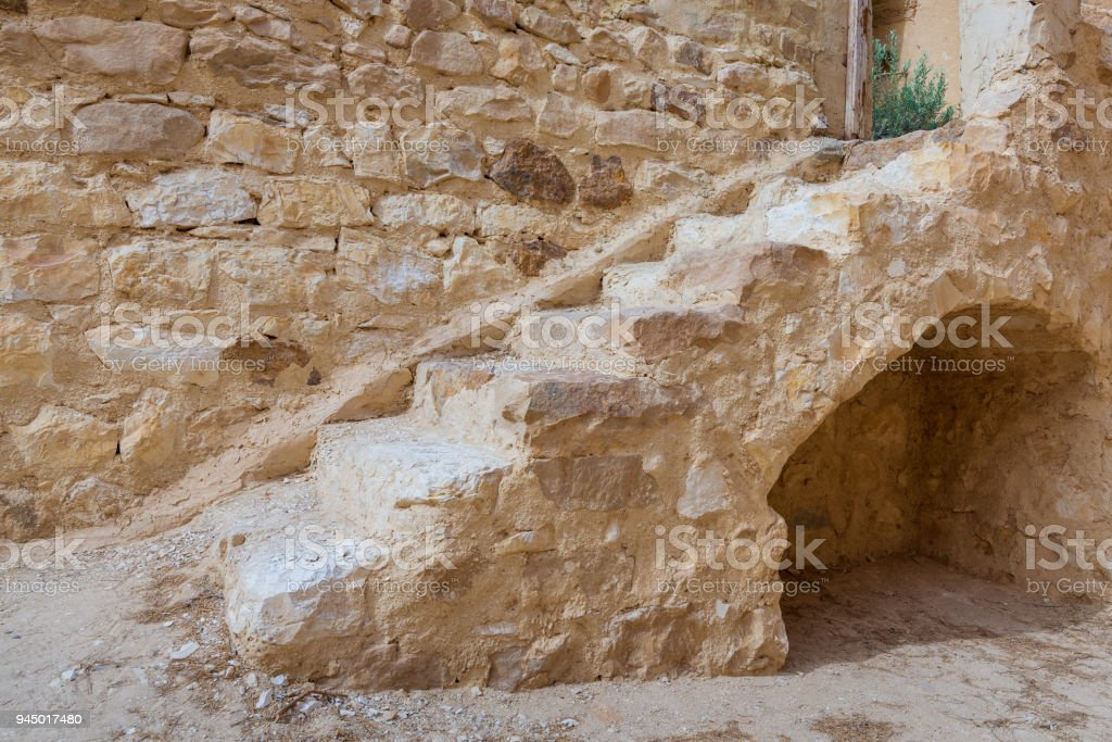 Old staircase leading to the Monastery of Saint Paul the Anchorite, Egypt stock photo