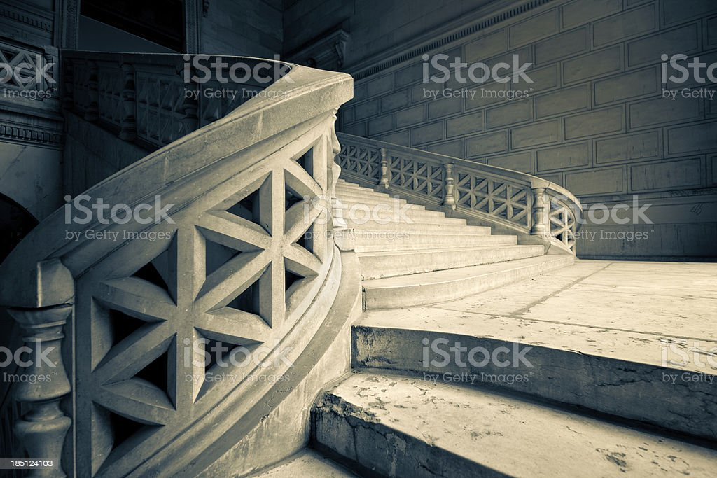 old Staircase stock photo