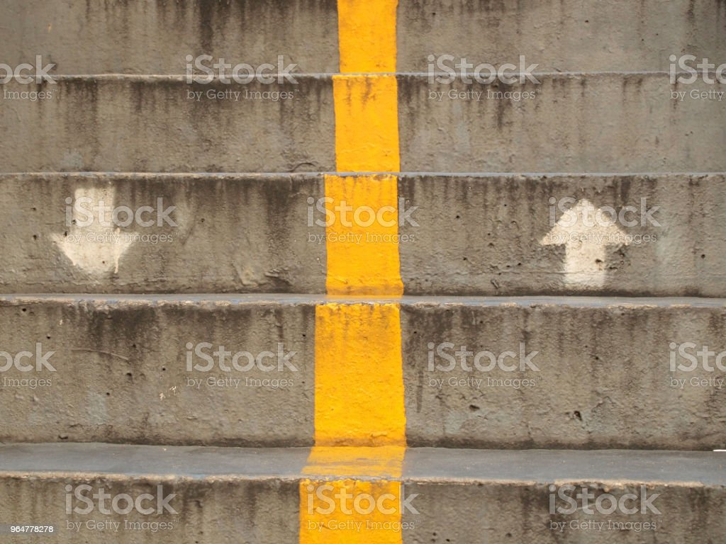 Old stairs of the overpass in the city royalty-free stock photo