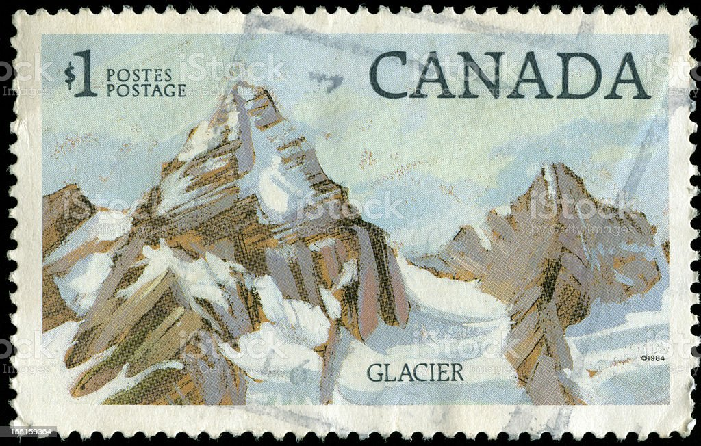 Old stamp from Canada stock photo