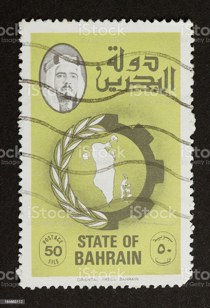 Old stamp isolated on black royalty-free stock photo
